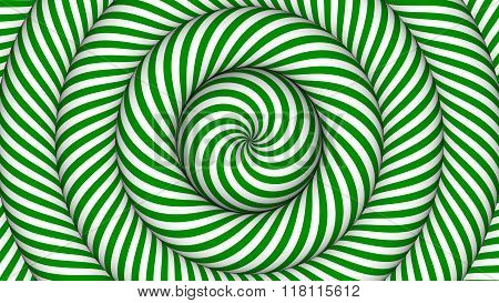 hypnotic background with green and white concentric circles in motion