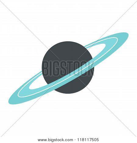 Saturn flat icon