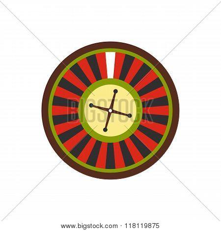 Casino symbol, roulette flat icon