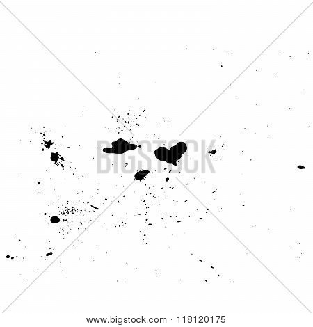 Grunge vector background abstract ink spots