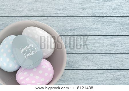 3D Elegant Pastel Easter Eggs