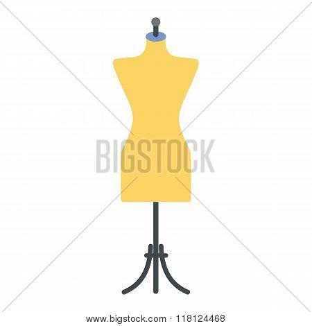 Dressmaker model flat icon