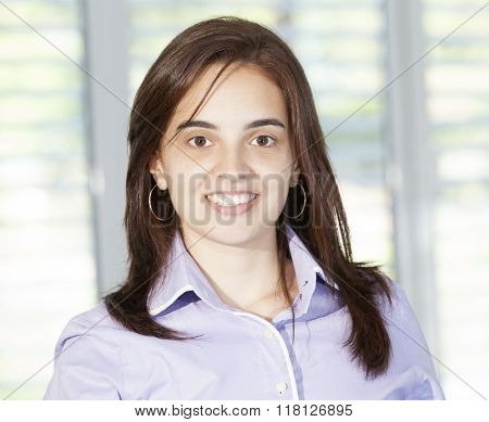 Confident business woman looking confident and smiling