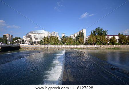Cityscape Of Sochi And River Sochi