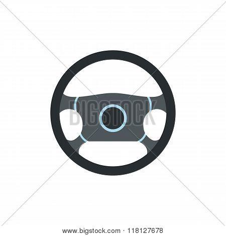 Steering wheel flat icon