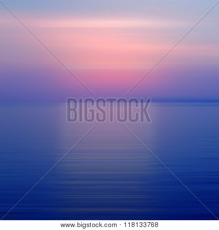 Abstract Purple Background Motion Blur Sunset On The Sea