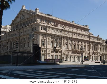 Buenos Aires Argentina - 18th October 2015: The famous landmark of Teatro Colón