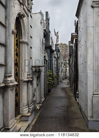 Buenos Aires Argentina - 19th October 2015: La Recoleta Cemetary.