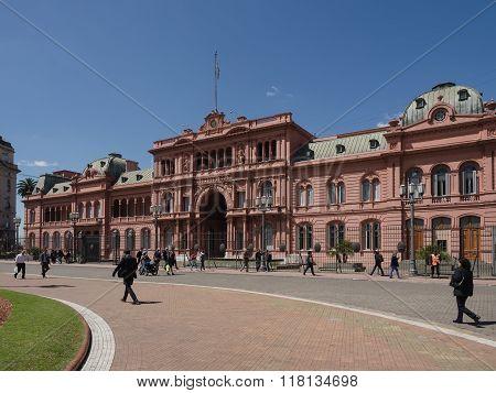 Buenos Aires Argentina - 19th October 2015: Casa Rosada presidential home.