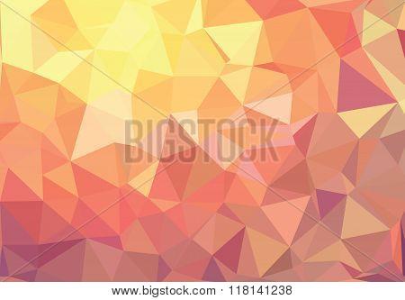 Orange Triangle Geometric Background