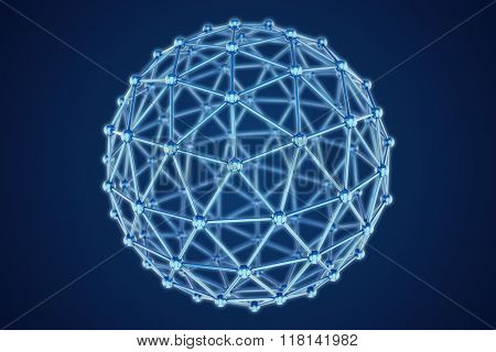 3D Model Of Abstract Sphere On A Dark Background