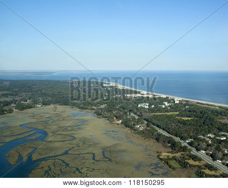 Aerial view of Hilton Head, South Carolina