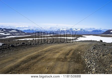 Wild Track Across South Western Highlands Iceland