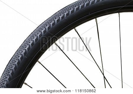 Close Up Of A Bicycle Wheel