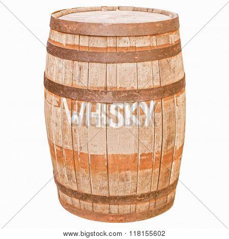 Retro Looking Barrel Cask