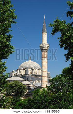 Bayezid Mosque In Istanbul, Turkey