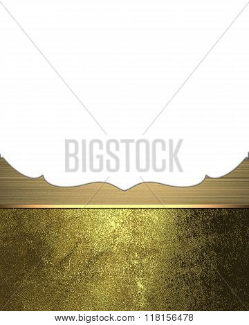 Grunge Pattern With Golden Ornament. Element For Design. Template For Design. Copy Space For Ad Broc