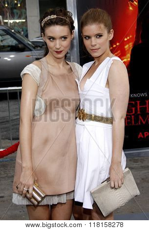 Rooney Mara and Kate Mara at the Los Angeles Premiere of
