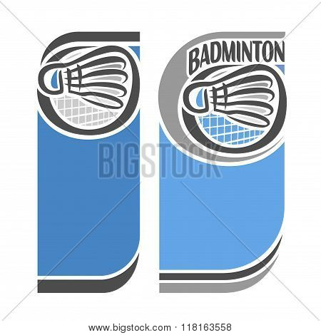 Abstract images for text on the subject of badminton