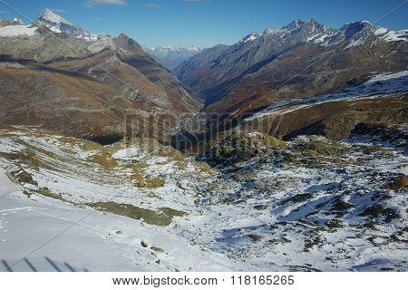 Panorama of Zermatt Resort, Alps, Canton of Valais,Switzerland