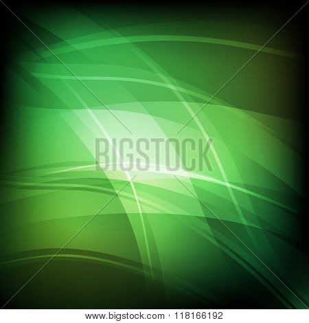 Abstract Background With Green Line Wave