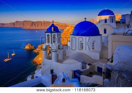 Oia, Santorini, Greece - sunset