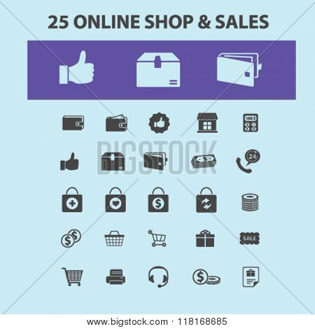 online shop icons, shopping signs, retail icons, cart icon, sales icons, store icons, shopping cart, shopping basket icon