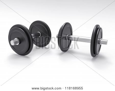 Isolated 3D Dumbell Illustration