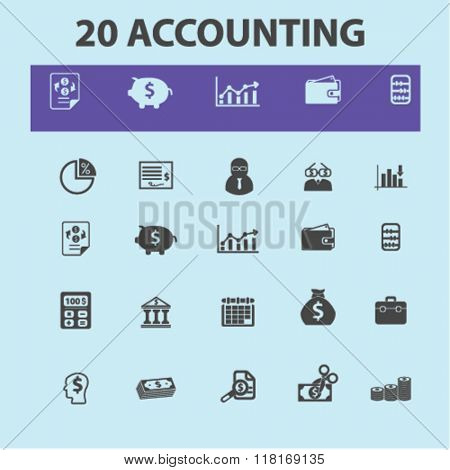 accounting icons, finance icons, accounting logo, finance concept