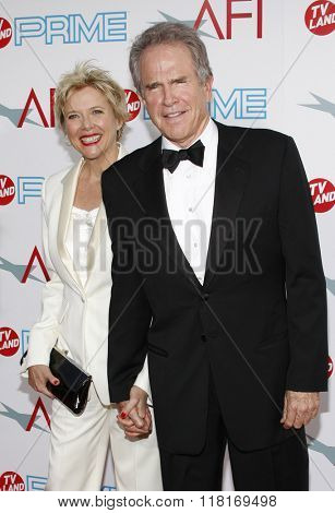 Annette Bening and Warren Beatty at the 37th Annual AFI LIfetime Achievement Awards held at the Sony Pictures Studios, California, United States on June 11, 2009.