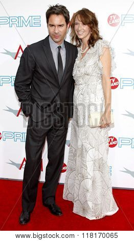 Eric McCormack and Janet Holden at the 37th Annual AFI LIfetime Achievement Awards held at the Sony Pictures Studios in Culver City, USA on June 11, 2009.