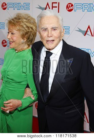 Kirk Douglas and Diana Douglas at the 37th Annual AFI LIfetime Achievement Awards held at the Sony Pictures Studios, California, United States on June 11, 2009.