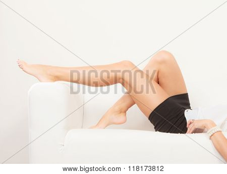 Perfect Female Legs Indoor.