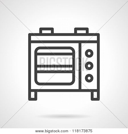 Microwave oven black line vector icon
