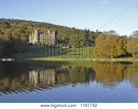 Irish Castle And Lake