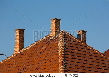 Chimnies on a house