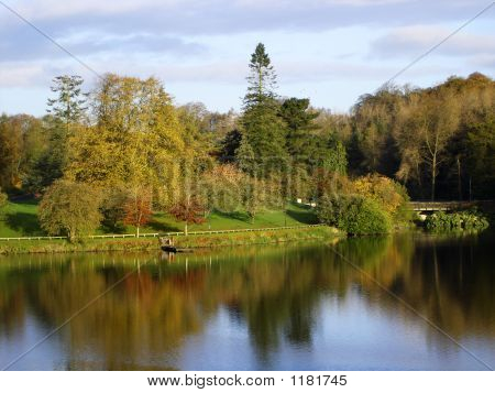 Irish Lake In Autumn