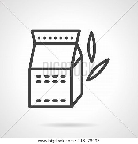 Soy milk black line vector icon