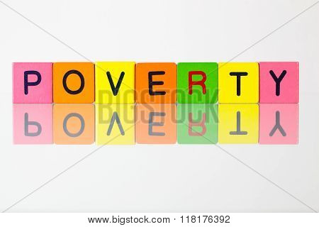 Poverty - An Inscription From Children's  Blocks