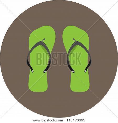 Flip Flops Icon Flat
