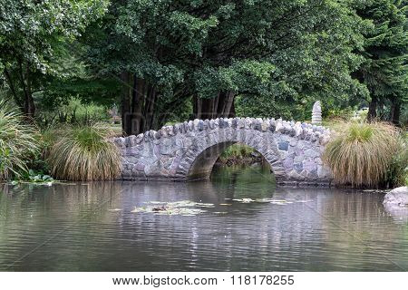 Small Bridge In Queenstown Gardens