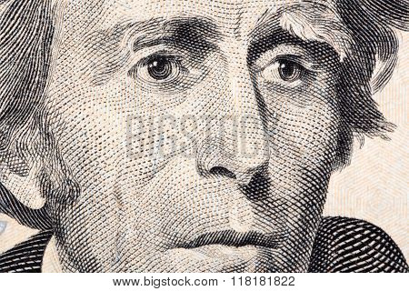 Andrew Jackson a close-up portrait