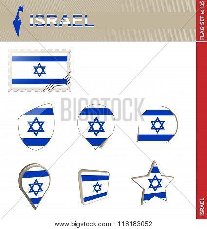 Israel Flag Set, Flag Set #135