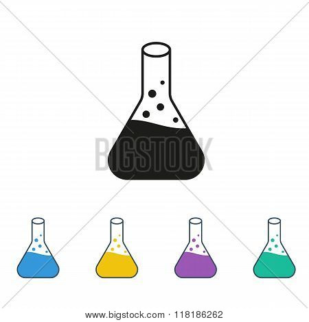 Conical Flask Icon Isolated On White Background