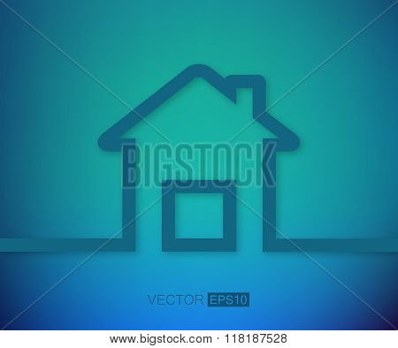 Abstract Creative concept vector house for Web and Mobile Applications, Illustration template design