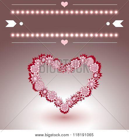 Wedding ore Valentines Greeting Card. Vector illustration