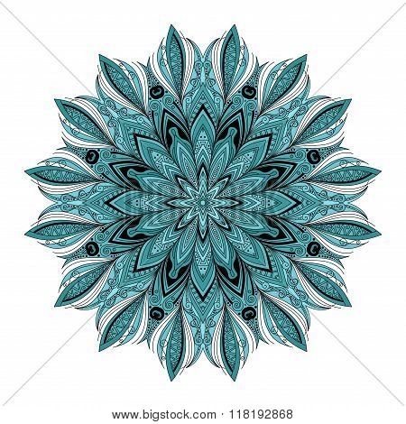 Vector Beautiful Deco Colored Contour Mandala