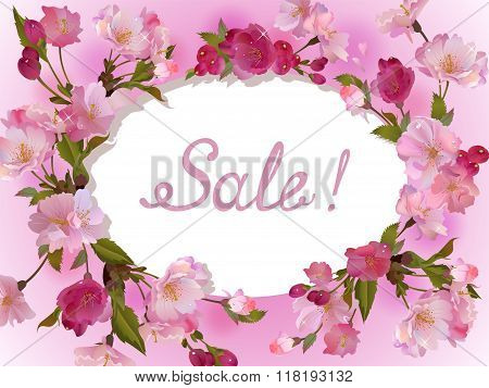 Spring flowers horizontal background