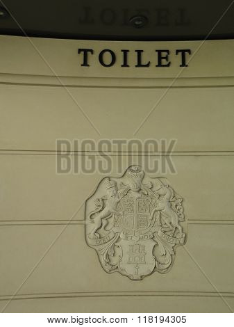 Royal Crest On Toilet