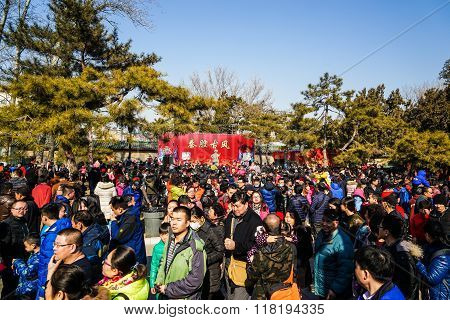 Crowd on Spring Festival Temple Fair, during Chinese New Year